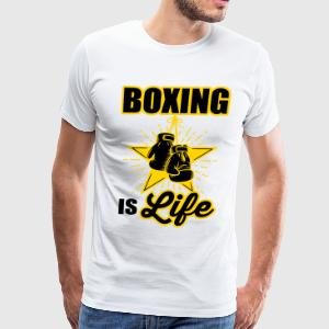 boxing is life T-Shirts - Men's Premium T-Shirt