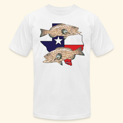 Hookat Texas Grouper 2 - Men's Fine Jersey T-Shirt