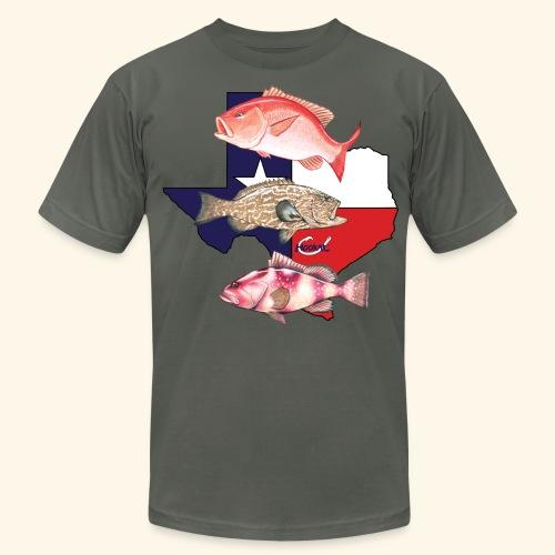 Hookat Texas Snapper Grouper Trio - Men's  Jersey T-Shirt