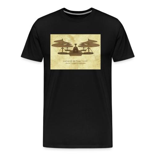 da Vinci's Lost Quadcopter Design - Men's Premium T-Shirt