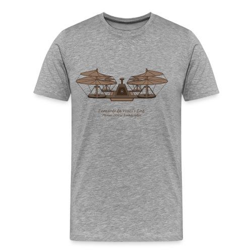 da Vinci's Lost Aerial Screw Quadcopter - Men's Premium T-Shirt