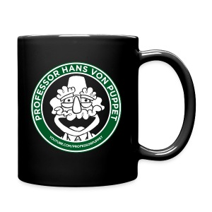 Professor Puppet Coffee Cup - BLACK - Full Color Mug