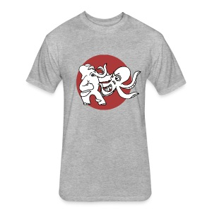 Fancy Elephant V. Octopus Shirt - Unisex - Fitted Cotton/Poly T-Shirt by Next Level