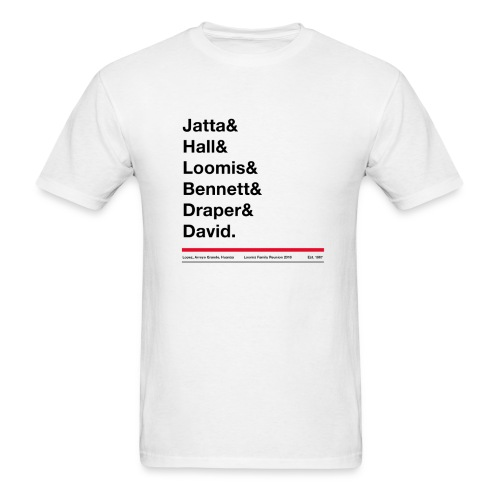 Men's last names tee shirt - Gildan or Fruit of the Loom tee - Men's T-Shirt
