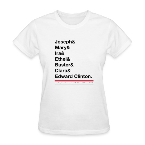 Women's first names tee shirt - Gildan or Fruit of the Loom tee - Women's T-Shirt