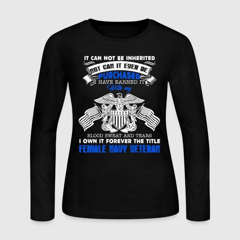 Female Navy Veteran Shirt - Women's Long Sleeve Jersey T-Shirt