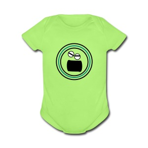 Emotional face angry Baby Short Sleeve One Piece - Short Sleeve Baby Bodysuit