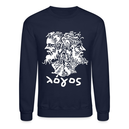 Logos Sweatshirt - Navy (White Janus) - Crewneck Sweatshirt