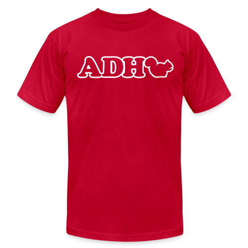 Funny ADHD Squirrel T-Shirts - Men's Fine Jersey T-Shirt
