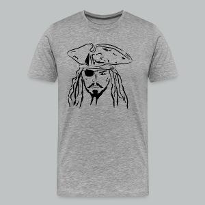 Pirate in Black - Men's - Men's Premium T-Shirt
