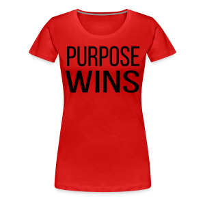 Purpose Wins Women's Premium T-Shirt (Red/Black) - Women's Premium T-Shirt