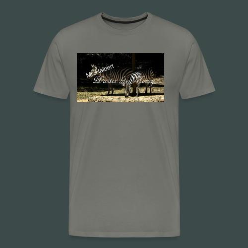 Mr Halbert Waste his Zebras - Men's Premium T-Shirt
