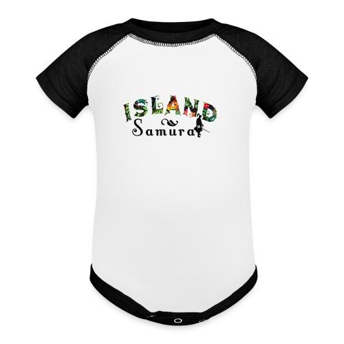 Island Samurai (infant) - Contrast Baby Bodysuit