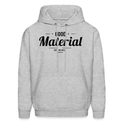 Grey material hoodie - Men's Hoodie
