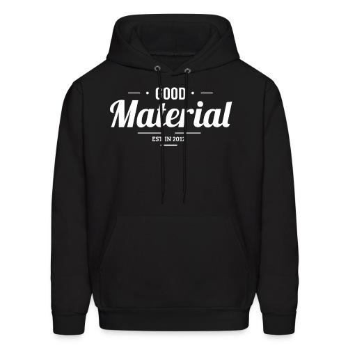 Black material hoodie - Men's Hoodie