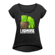 T-Shirts ~ Women´s Rolled Sleeve Boxy T-Shirt ~ Creeper Admires Soil | Ladies