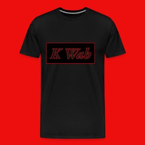 Mens T-Shirt KWaB90 Red Stroke - Men's Premium T-Shirt