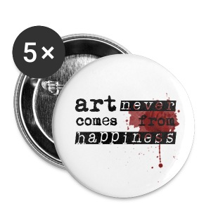 Art Comes From Happiness Buttons - Small Buttons
