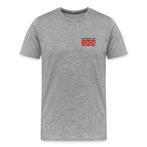 History of Cool Pocket on Grey - Men's Premium T-Shirt