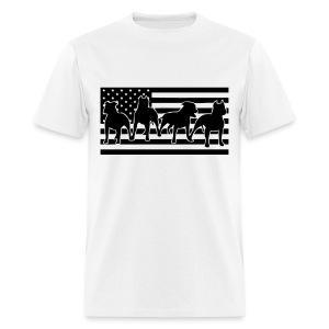 Patriotic Pitbull - Men's T-Shirt