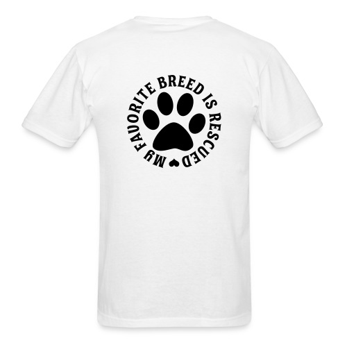 Favorite Breed Rescued - Men's T-Shirt