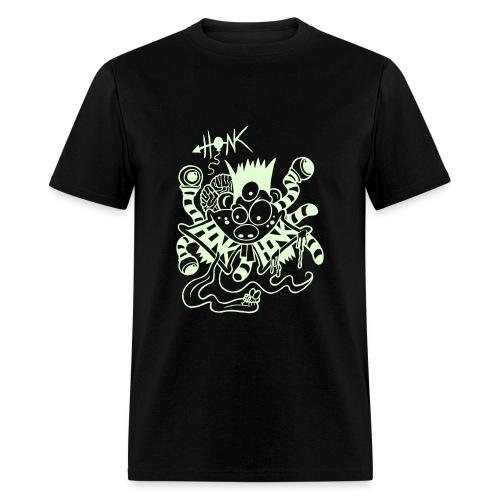 Glow In The DARK Wormy Basketcase Brain Freak - Men's T-Shirt