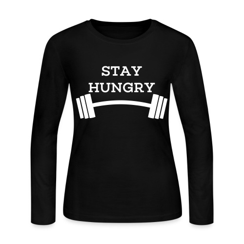 Get Going Apparel- Stay Hungry-womens - Women's Long Sleeve Jersey T-Shirt