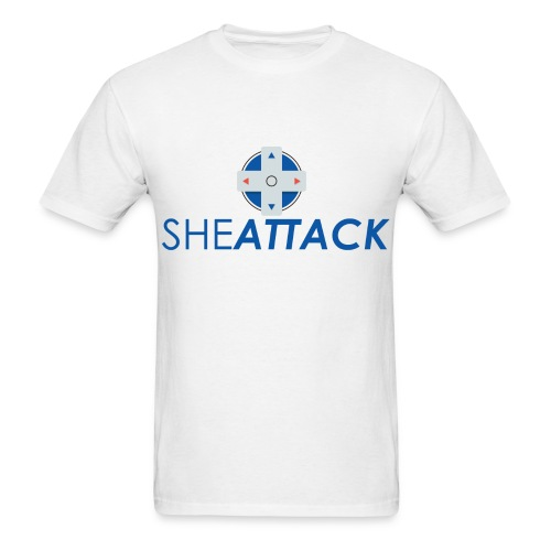 SheAttack Men's Stacked - Men's T-Shirt