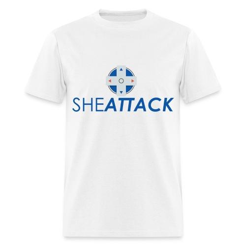 SheAttack Men's Stacked - Men's T-Shirt