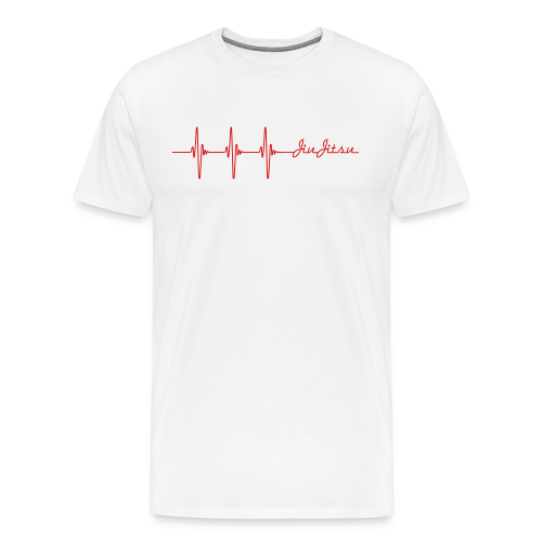 Jiu-Jitsu Heart beat - Men's Premium T-Shirt