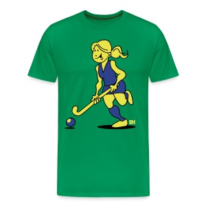 Field  hockey girl T-Shirts - Men's Premium T-Shirt