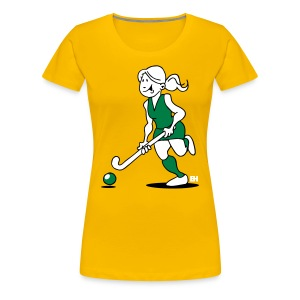Field  hockey girl T-Shirts - Women's Premium T-Shirt