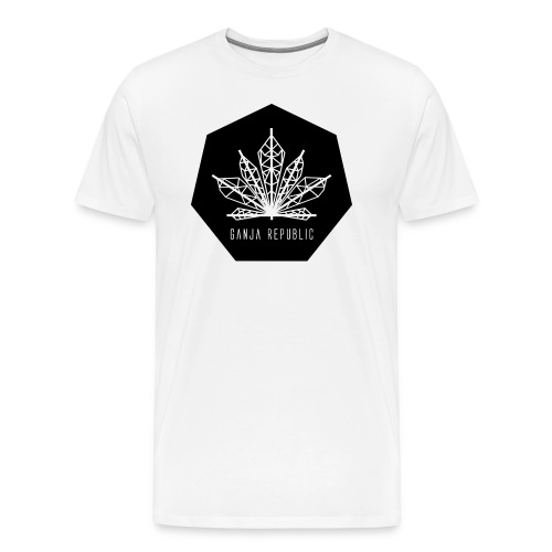 Cannabis Heart - Ganja Republic Clothing Design Logo - Men's Premium T-Shirt