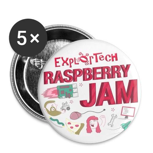 ExplorTech Raspberry Jam Buttons - Small Buttons
