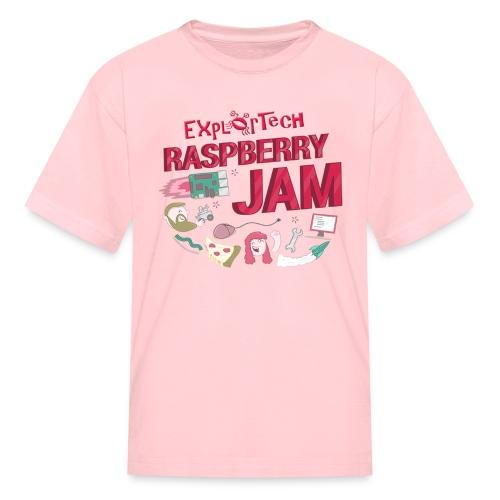 Kid's ExplorTech Raspberry Jam T-Shirt (Pink) - Kids' T-Shirt