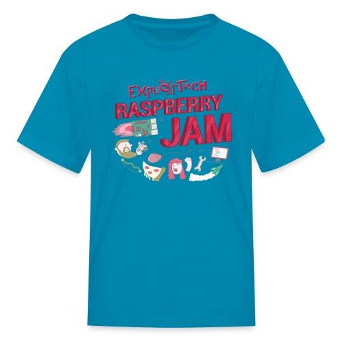 Kid's ExplorTech Raspberry Jam T-Shirt (Blue) - Kids' T-Shirt
