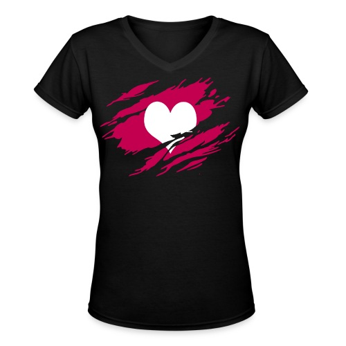 Torn POSH POP Top - Women's V-Neck T-Shirt
