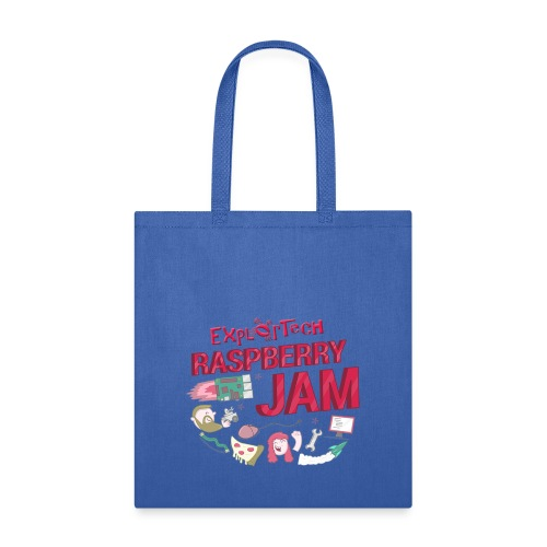 ExplorTech Raspberry Jam Tote Bag (Blue) - Tote Bag