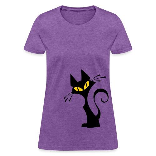 black cat womens - Women's T-Shirt