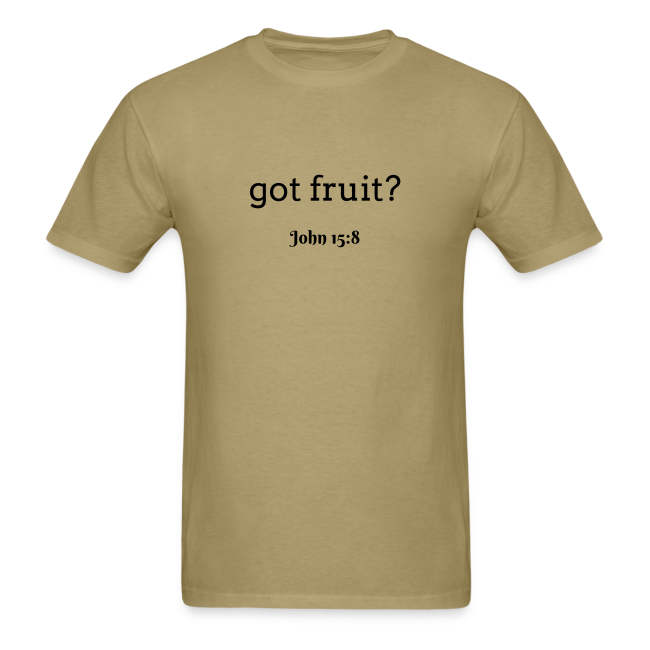 Men's got fruit? John 15:8 dark print