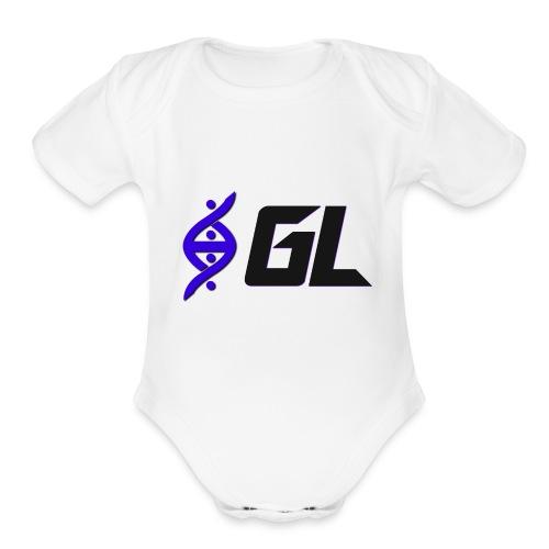 Iconic Helix Gamers League Baby Onesie - Organic Short Sleeve Baby Bodysuit