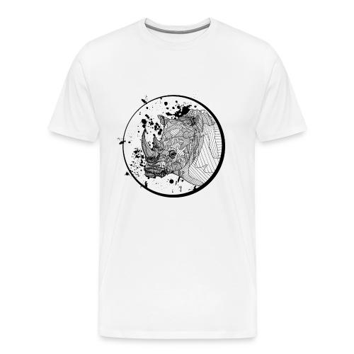 Unisex T Shirt: Rhino - Men's Premium T-Shirt