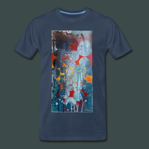 Abstract Spray Art #2 T-Shirt - Men's Premium T-Shirt