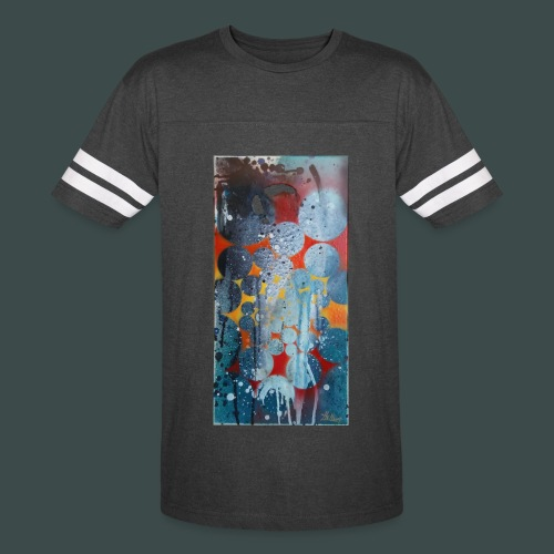 Abstract Spray Art #2 Retro Stripe T - Vintage Sport T-Shirt