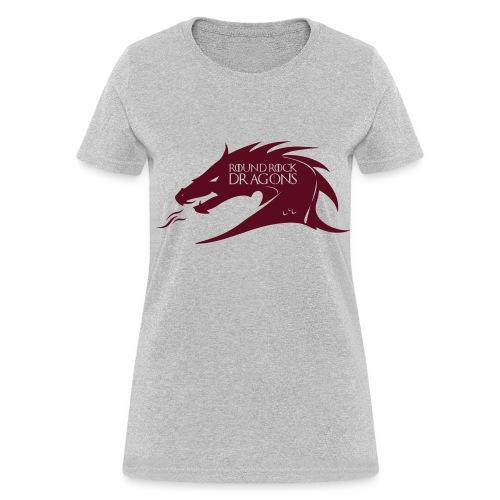 Heather Grey Woman's Tee | Maroon Dragon Head - Women's T-Shirt