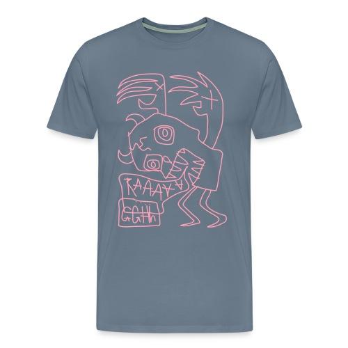 zombie skull - Men's Premium T-Shirt