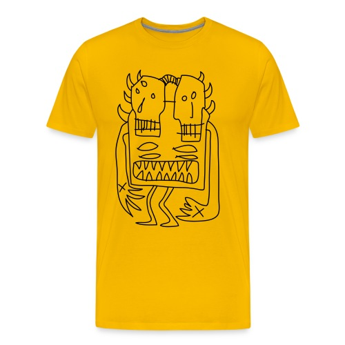 twin headed demons - Men's Premium T-Shirt