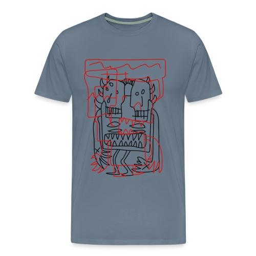 twin headed chaos - Men's Premium T-Shirt