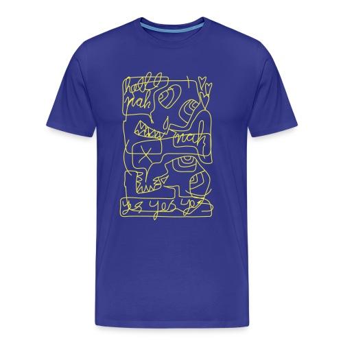 skulls on drugs - Men's Premium T-Shirt