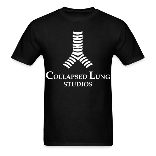 Collapsed Lung Studios Logo Men's T-Shirt (Black) - Men's T-Shirt